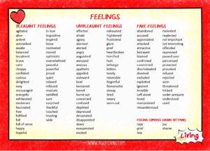 feelings list