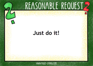 Reasonal Request - just do it!